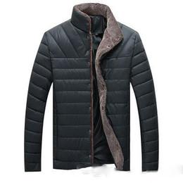 Mens Parka Leather Australia - Parka Men 2018 Winter Jacket Men Coat Slim Casual Cotton Padded Hombre Faux Leather Parka Mens Coats Jackets Warm Plus Velvet Thick Outwear