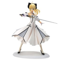 $enCountryForm.capitalKeyWord Canada - Action Figure Fate stay Night Saber White Dress Cartoon Doll PVC 18cm Box-packed Japanese Figurine World Anime Toy 170701