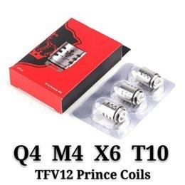 TFV12 Príncipe Coils Q4 X6 T10 M4 Massive Vapor Vape Reemplazo de la Bobina de La Nube Para La Bestia Vapor Vape Core Atomizer TOP calidad shipping4 en venta