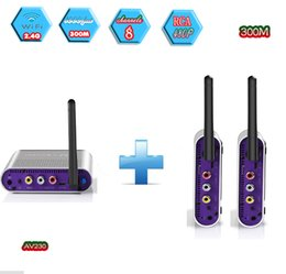 Wireless Audio Video Transmitters Australia - MEASY AV230-2(1X2) 2.4G Wireless AV Audio & Video Sender Transmitter & Receiver System Support Transmission up to 300m 1000 Feet DVD DVR IPT