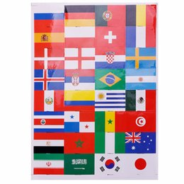 $enCountryForm.capitalKeyWord UK - 1Pcs Sheet National Flags Waterproof Face Body Stickers for Soccer Fans 32 Countries Football Game Tattoo Sticker for 2018 World Cup