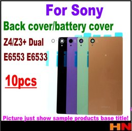 replacement for xperia 2019 - 10pcs for Sony Xperia Z4 Z3+ Dual E6553 E6533 Housing Battery Cover Case Rear Battery Door Back Housing cover Replacemen