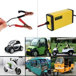 Venta al por mayor de Envío gratis yentl Mini Portable 12V 2A Car Motor Smart Battery ChargerCharger LED Adapter Power ventas al por mayor precio de mercado