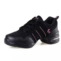 Jazz dancing shoes online shopping - Cheap DS001 EU35 Sports Feature Soft Outsole Breath Dance Shoes Sneakers For Woman Practice Shoes Modern Dance Jazz Shoes Discount