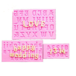 Chocolate Mould Letters Australia - Factory Wholesale One Suit Letter Chocolate Cookies Ice Cube Silicone Mold Tray Baking Mold Cake Maker DIY Ice Mold Pink color DIY Molds