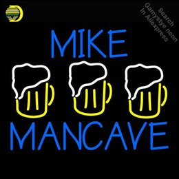 f865b3a2134227 Mike Mancave NEON LIGHT SIGN Neon Sign REAL GLASS Tube BEER BAR PUB Light  Store Display Handcraft Iconic personalized