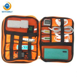 Data Power Bank NZ - waterproof travel storage bag organizer USB data cable earphone wire pen power bank kit case digital gadget devices