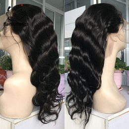 high quality wigs NZ - high quality brazilian human hair wig 8-22 inch natural color body wave full lace wig 150% heavy density women hair wig