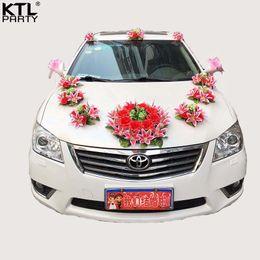 Wedding car decoration set australia new featured wedding car ktlparty new style lily wedding car flower decoration set artificial flowers lily junglespirit Choice Image