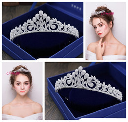 China 2018 new exquisite European simple wedding crown tiara   luxury zircon bride wedding crown   into the shop to choose more styles supplier antique wood ball suppliers