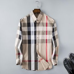 $enCountryForm.capitalKeyWord Canada - Wholesale 2017 New Spring Men Shirt Lattice Design Korean Style Casual Mens Plaid Shirts Man Long Sleeve 100% cotton dress men shirts S-XXXL