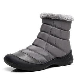 ad4a2a9f6c45b Mujeres Zapatos de nieve de invierno Mujeres Botas de tobillo ligero Botas  de lluvia impermeables para mujer 2017 Nueva mujer peluda