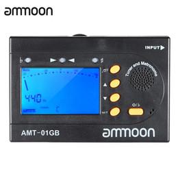 Discount digital bass guitar - ammoon AMT-01GB Multifunctional 3in1 Digital Tuner + Metronome + Tone Generator Universal Portable for Chromatic Guitar