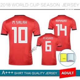 a8efbfe0e 2018 world cup Egypt Jersey soccer M. SALAH 2019 KAHRABA home Red Mens  short sleeve footbal A. HEGAZI RAMADAN maillot de footbal shirts