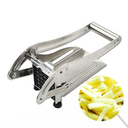french fries chips UK - Household Stainless Steel French Fry Cutter Potato Chips Strip Machine Maker Chopper Cutters Fruit Vegetable Kitchen Tool KC1703