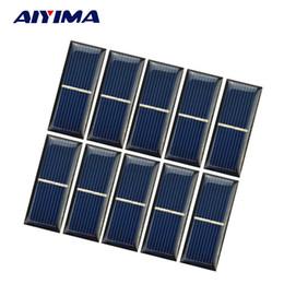 $enCountryForm.capitalKeyWord Canada - sun power AIYIMA 10pcs Epoxy Panel Solar Cell 0.5V 220mA Photovoltaic Panel Sun power Module DIY Solar Battery Car Charger 55*22*3mm