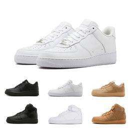 7533cfa2741 Nike AIR FORCE 1 one Novo clássico forçando venda quente todos os altos e  baixos branco preto trigo homens mulheres tênis esportivos tênis de corrida  ...
