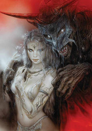 $enCountryForm.capitalKeyWord NZ - Luis Royo Fantasy Art Beauty And Beast,Oil Painting Reproduction High Quality Giclee Print on Canvas Modern Home Art Decor 3944