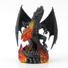 $enCountryForm.capitalKeyWord UK - Creative 17*11.7*22CM hand painted by hand Creative quality of flame dragon resin A limited number of ornament gifts decoration furnishings