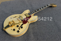 Mahogany Musical Instruments Canada - Vicers Free shipping: Chinese musical instrument cutomized hollow body jazz electric guitar
