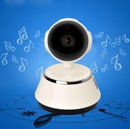 Бесплатно 8 г карты V380 WiFi IP-камера умный дом беспроводной камеры наблюдения камеры безопасности Micro SD сети вращающийся CCTV IOS ПК