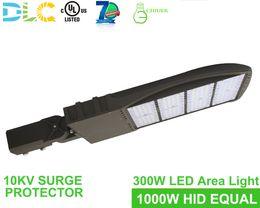 Großhandel 300w LED Schuhkarton-Bereich-Parkplatz-Licht-Stadion-Befestigungs-Pole-Lampen-Flut-Beleuchtung 0-10v Dimmable 5000K UL DLC genehmigt