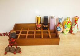 $enCountryForm.capitalKeyWord Australia - Lipstick Storage Box Solid Wooden Cosmetics Cabinet Desktop Creative Storage Wooden Box