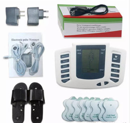 electrical stimulator Canada - Electrical Stimulator Full Body Relax Muscle Digital Massager Pulse TENS Acupuncture with Therapy Slipper 16 Pcs Electrode Pads FREE SHIPPIN