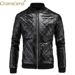 9954bc365a47a Бесплатная доставка моды мужская черная кожаная куртка стенд воротник  молния с длинным рукавом мужчины зимнее пальто 80919