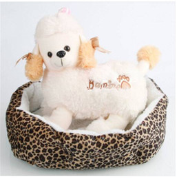 $enCountryForm.capitalKeyWord Australia - Free shipping Soft Cotton Pet Dog Puppy Warm Waterloo Bed Nest with Pad Leopard Print Dog Houses & Kennels Accessories