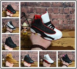 nike air jordan aj13 New Kids 13 13 s tênis de basquete Chicago Ele tem jogo Bred altitude DMP meninos meninas sapatilhas crianças bebê calçados esportivos tamanho 11C-3Y