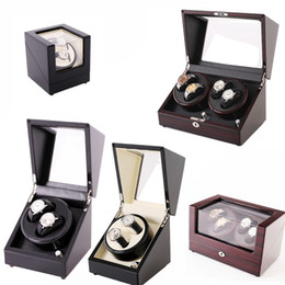 Discount luxury square automatic watch - Sandalwood Luxury Automatic Watch Winder Boxes Full Model Slient Japan Motor for Brand Watches Display&Storage