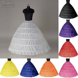 Gauze balls online shopping - 6 Hoops Bridal Wedding Petticoat Marriage Gauze Skirt Crinoline Underskirt Wedding Accessories Jupon Mariage CPA206
