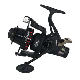 Bait Systems Australia - Double Drag Rear Spinning Fishing Reel 5.2:1 CNC Metal Handle Dual Brake System Long Casting Carp Fishing Coils 3000-6000 Series