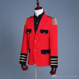 $enCountryForm.capitalKeyWord Australia - 18th Century European court Prince Red tassel Men's Two-Piece Jacket Pants Suit Nightclub Stage Performance Suits Costumes