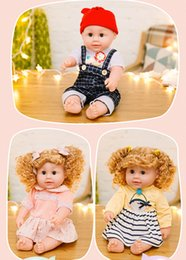 $enCountryForm.capitalKeyWord NZ - Shipping DHL 19 Inch Baby Doll Siting open eyes lie close eyes girls and boys Soothing sleep toys gift
