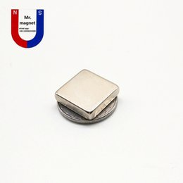 wholesale neo magnets Canada - 50pcs N35 20*20*5mm permanent magnet 20*20*5 super strong neo neodymium block 20x20x5 NdFeB magnet 20x20x5mm with Nickel coating