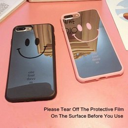 smile soft case Australia - Gift Details about Lovely Smile Face LOGO Mirror Surface Lover Phone Case Soft Silicone Back Cover E381 HOT SELL LOWER PRICE
