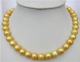 """$enCountryForm.capitalKeyWord Canada - Wholesale - CHARMING 19"""" NATURAL SOUTH SEA 11-12MM GOLDEN PEARL NECKLACE 14K YELLOW GOLD CL@ Valentine's Day present"""