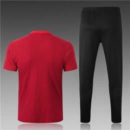 b8202e4dc 2018 World Cup National England Polo Short Sleeve Soccer Training Suit Red  Custom Football Shirt Kit Tracksuit set