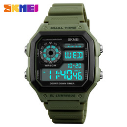 Red Countdown Clock NZ - Skmei Famous Outdoor Sports Watches Men Waterproof Countdown Digital Watches Military Wristwatches For Women Man Clock Relogio S915