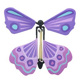 $enCountryForm.capitalKeyWord Australia - Fun Exclusive Magic Flying Butterfly Flyer 10cmx10cm Easy To Fly Magic Tricks Props Toys For Children Surprising Gift