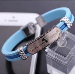 $enCountryForm.capitalKeyWord Australia - 7 style Fairy Tail cosplay bracelet Zinc alloy Leather Wristband Hollow Outs Aolly Anime Lucy Heartfilia Natsu Dragneel Guild