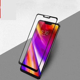 Screen protector StyluS online shopping - 9H Full Cover Tempered Glass Screen Protector Glue Silk Printed for LG Stylus stylo K40 Q6 Q7 G6 G7