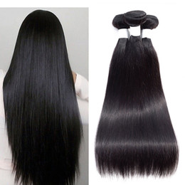 Malaysian Straight Hair Weave Australia - Malaysian Straight Hair 3 or 4 Bundles 8A Brazilian Virgin Hair Straight Cheap Peruvian Indian Human Hair Weave Bundles Natural Color