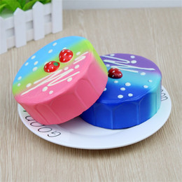 Colourful toys online shopping - Colourful Simulation Strawberry Mousse Cake Squishy Decompression Toys Squishies Bread Slow Rising Squeeze Toy Children Gift bc C