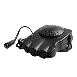 car cooling vents 2019 - Portable 12V 150W Black Car Heater Cooler fansThree Vents Vehicle Warmer Cigarette Lighter Powered Defrosted Demisted Ca