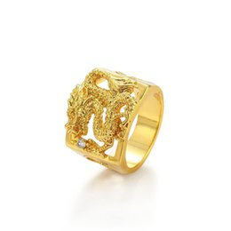 $enCountryForm.capitalKeyWord UK - MGFam (205R) Dragon Rings For Masculine Men 24k Pure Gold Plated China Mascot National Style jewelry 10 11 12 (US)