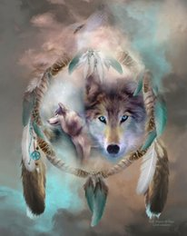 $enCountryForm.capitalKeyWord Australia - Modern Contemporary Fantasy Wolf Animal Art Abstract Oil Painting Giclee Print On Canvas Wall Art For Living Room Home Poster Decor MY478