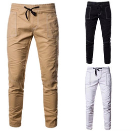 1273f4da9de2 Man Catton Mix Autumn Winter Elastic Pure Color Casual Office Long Straight Trousers  Office Work And Business Pencil Pants DHL Free Shipping